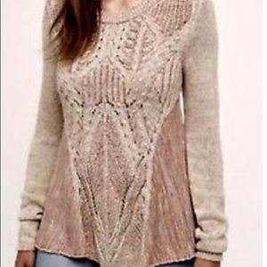 AnthropologieMoth Knit Zip Swing Pullover Sweater